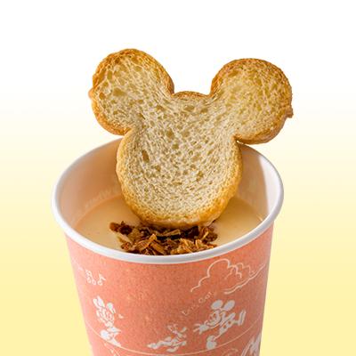 スープにトッピングのイメージ