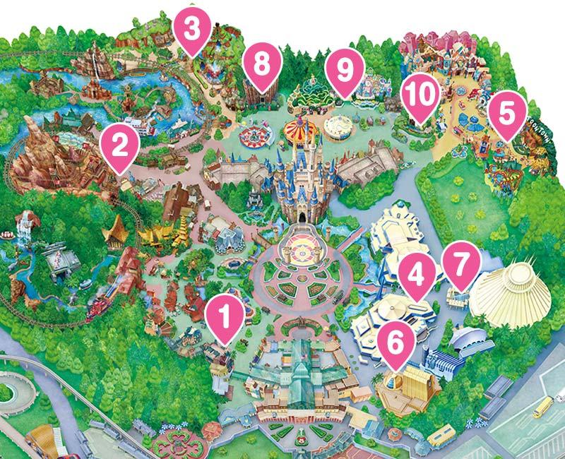 โตเกียวดิสนีย์แลนด์ แผนที่สวนสนุก