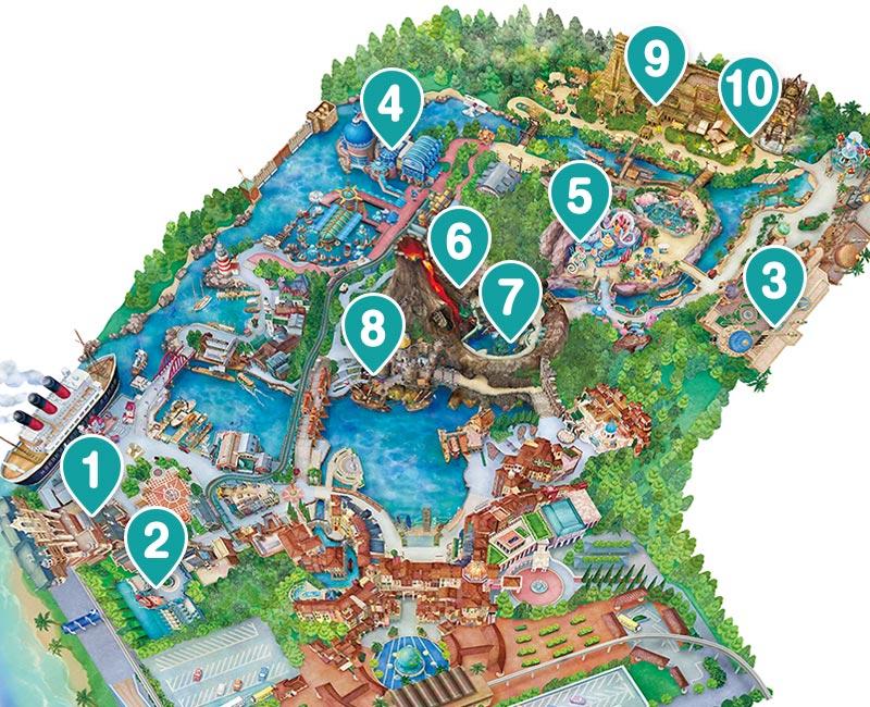 โตเกียวดิสนีย์ซี แผนที่สวนสนุก