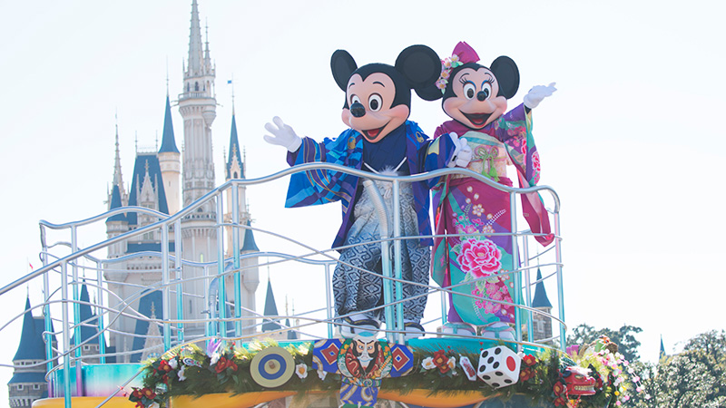 東京迪斯尼樂園的新年