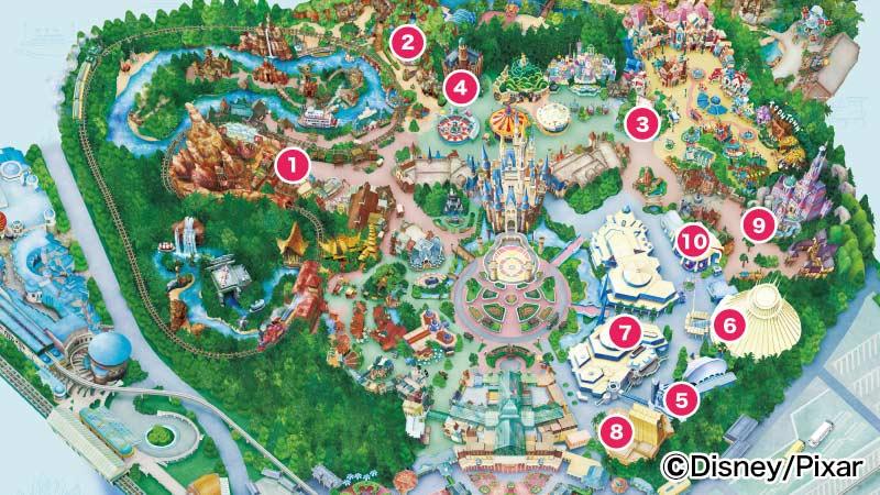 東京ディズニーランド「アトラクション利用券」対応アトラクション 一覧マップ