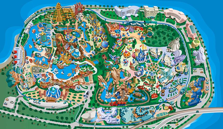 東京ディズニーリゾートの全施設のイメージ