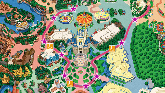 15.東京ディズニーランド・エレクトリカルパレード・ドリームライツの場所のイメージ