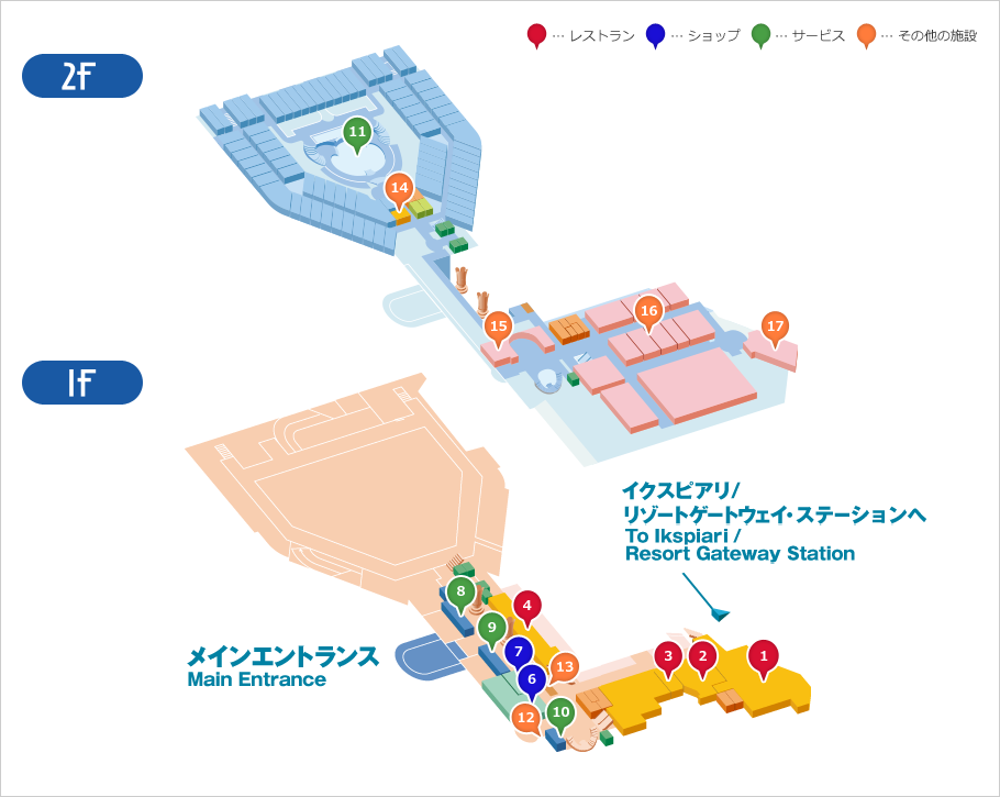 館内マップのイメージ