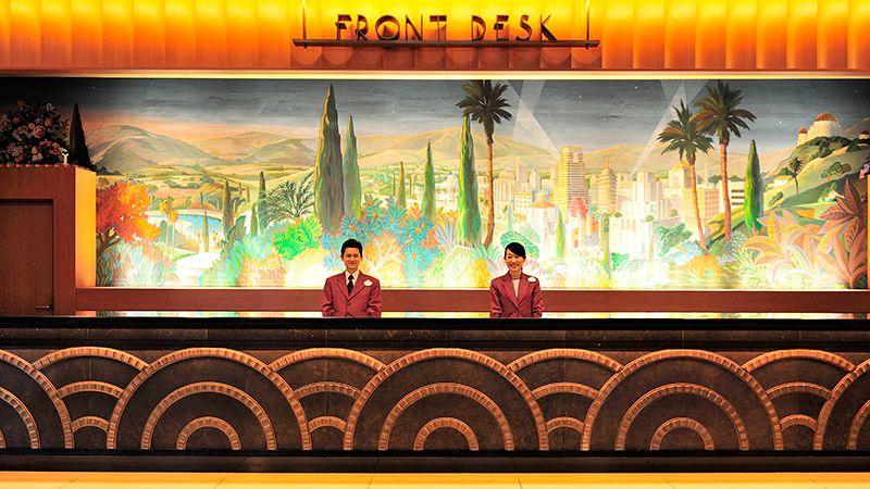 飯店迎賓櫃檯のイメージ