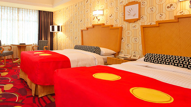 Discover a diverse selection of guest rooms featuring your favorite Disney Characters. For a memorable stay surrounded by motifs of the Disney friends.