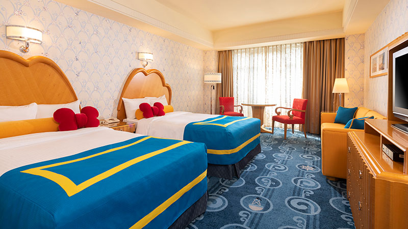 Lots of guest rooms themed to the Disney Characters