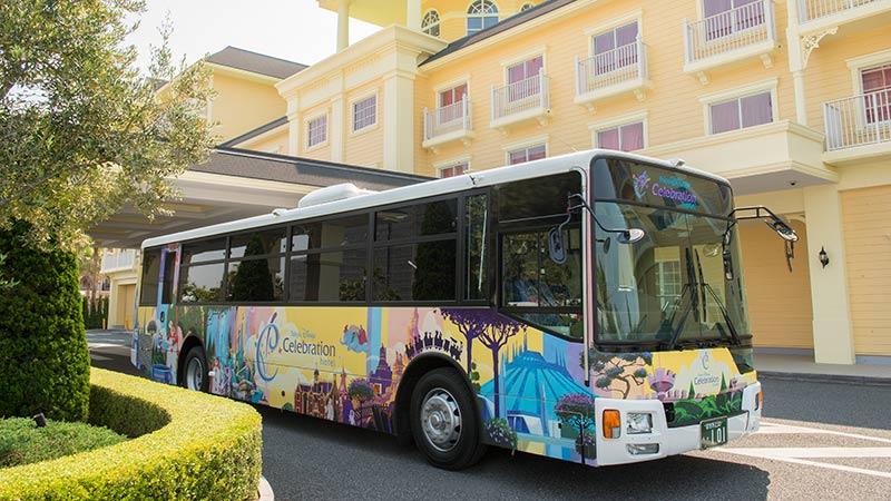 シャトルバスの写真