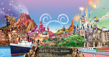 Up-to-the-minute information on Tokyo Disney Resort is available at the hotel.