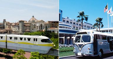便捷的單軌電車及免費接駁巴士
