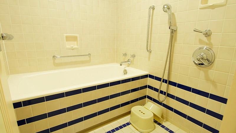 洗い場付きの広いお風呂でゆったり!