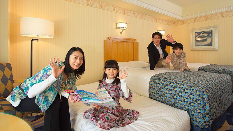 1部屋で家族みんながお泊りできる!