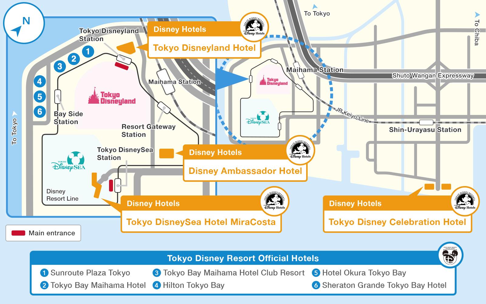 Official]Map|Tokyo Disney Resort on