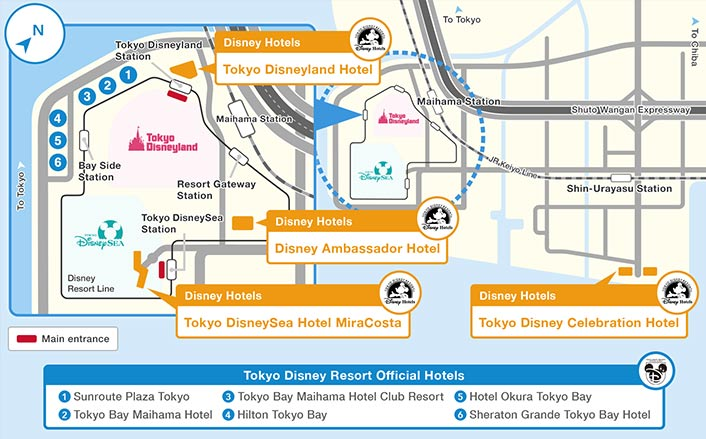 Official]Map|Tokyo Disney Resort on