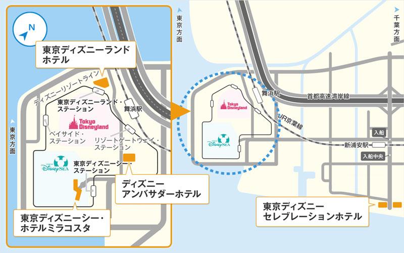 ホテルの場所のイメージ