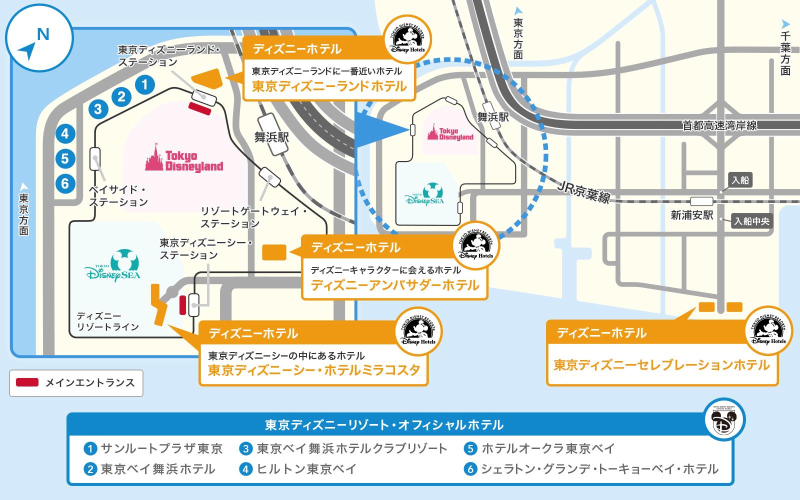 公式】地図 | 東京ディズニーリゾート