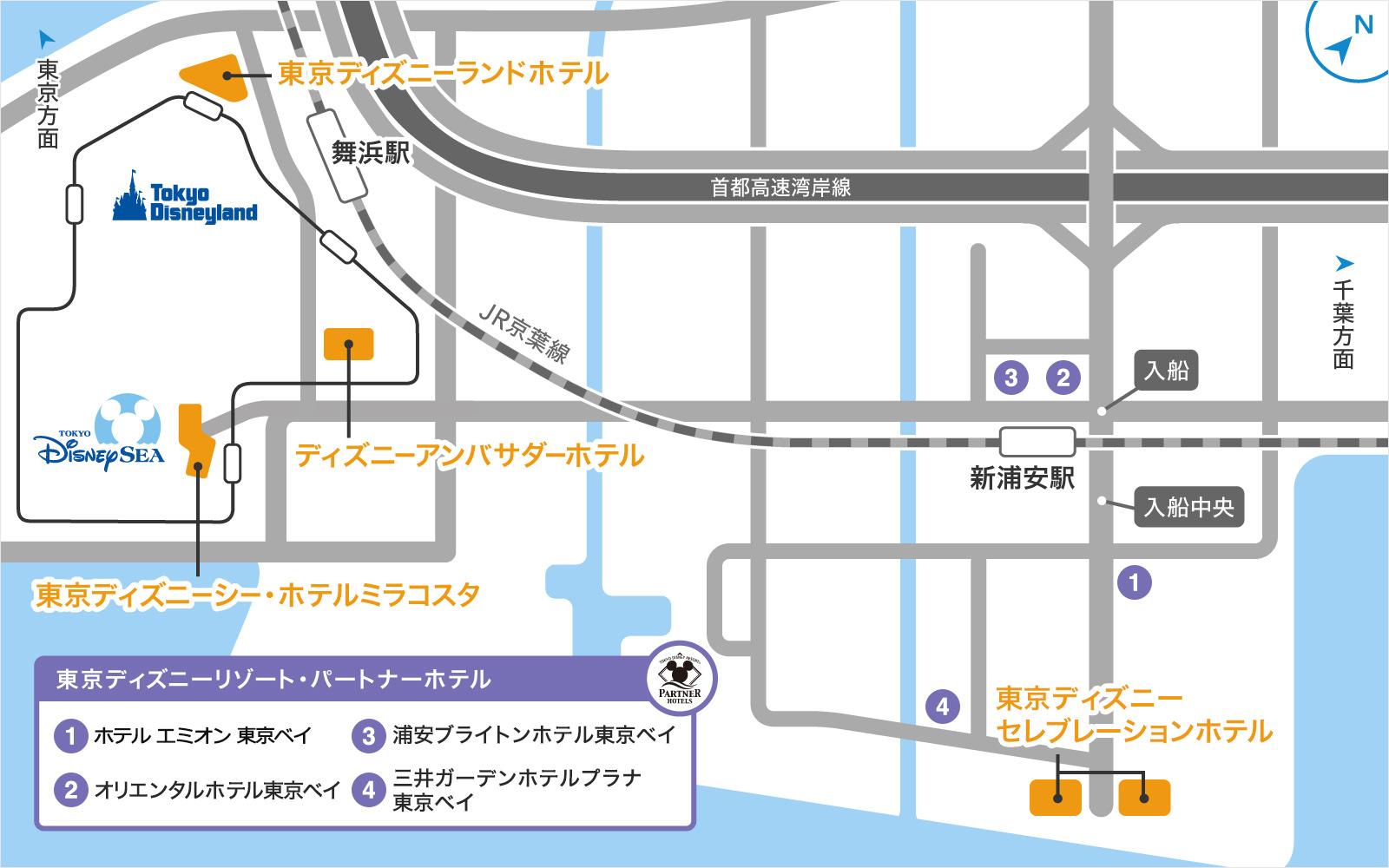 ホテルの地図画像