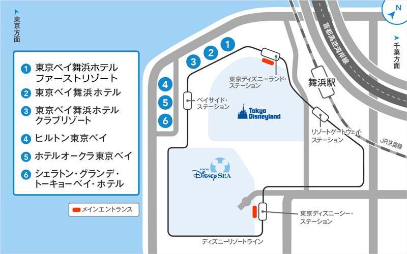 ディズニーアンバサダーホテルの地図画像