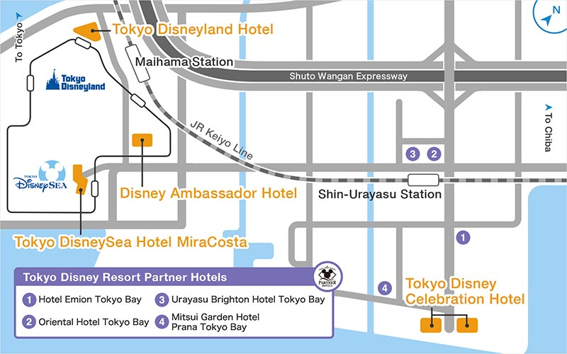 Hotels in the vicinity of Tokyo Disney Resort