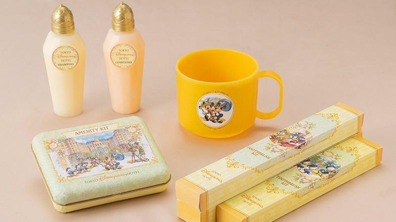 Room amenities featuring Disney Character designs