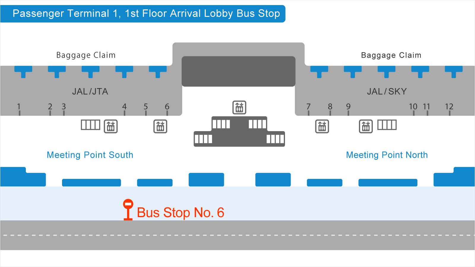 羽田空港第1ターミナルバス乗り場の画像