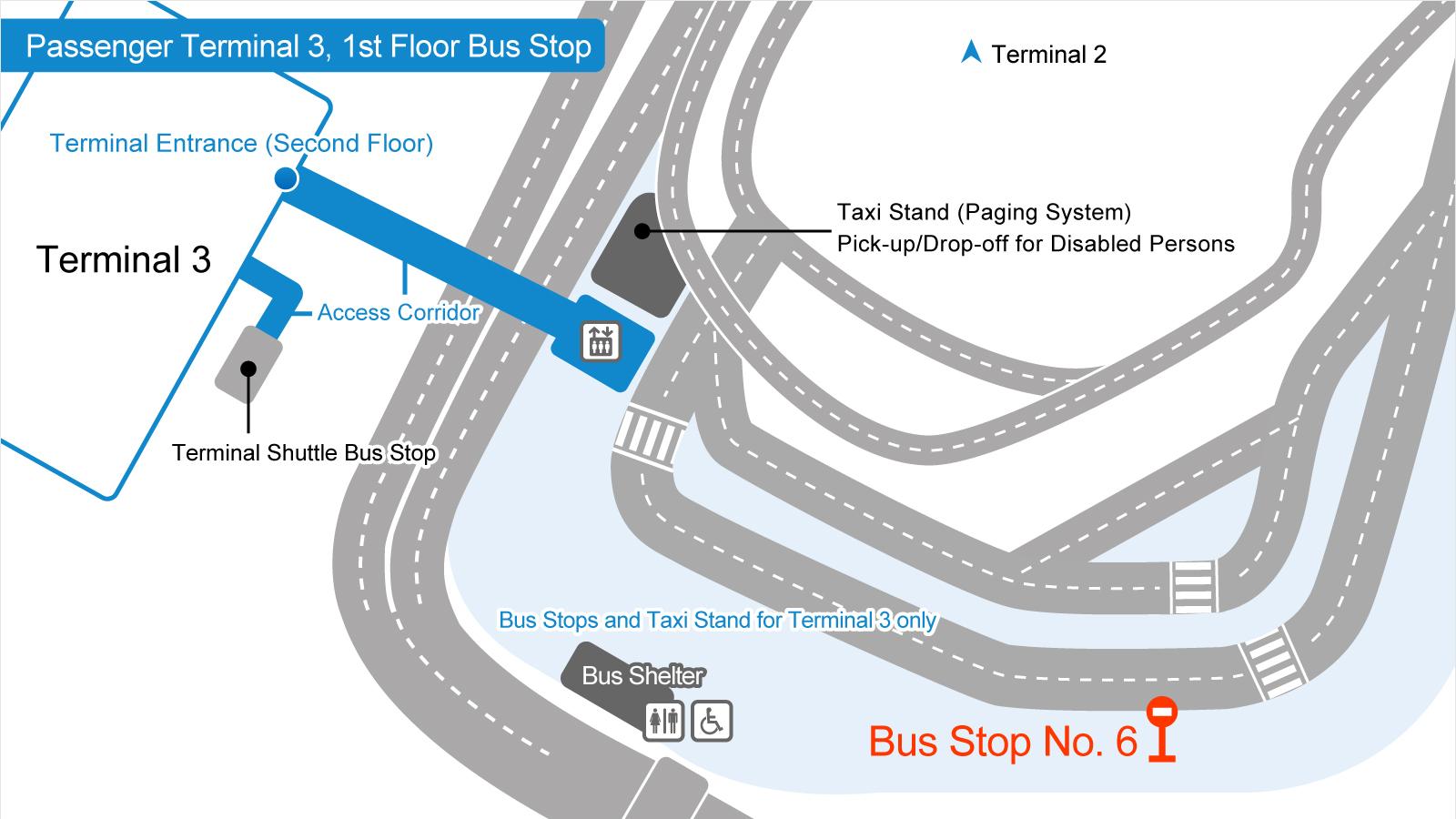 成田空港第3旅客ターミナルバス乗り場の画像