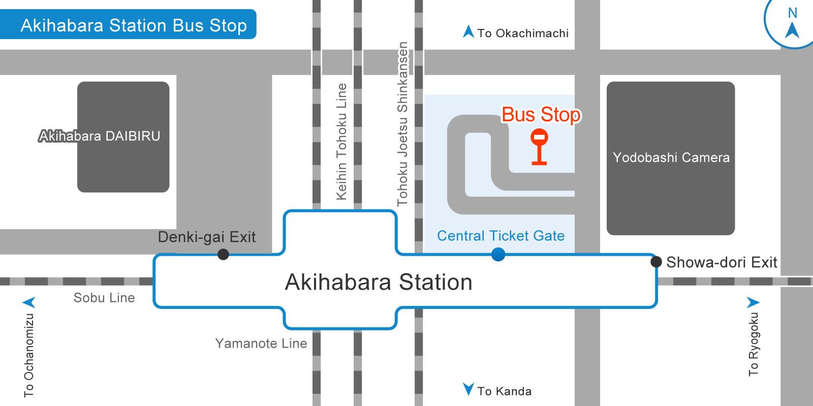 秋葉原駅バス乗り場の画像