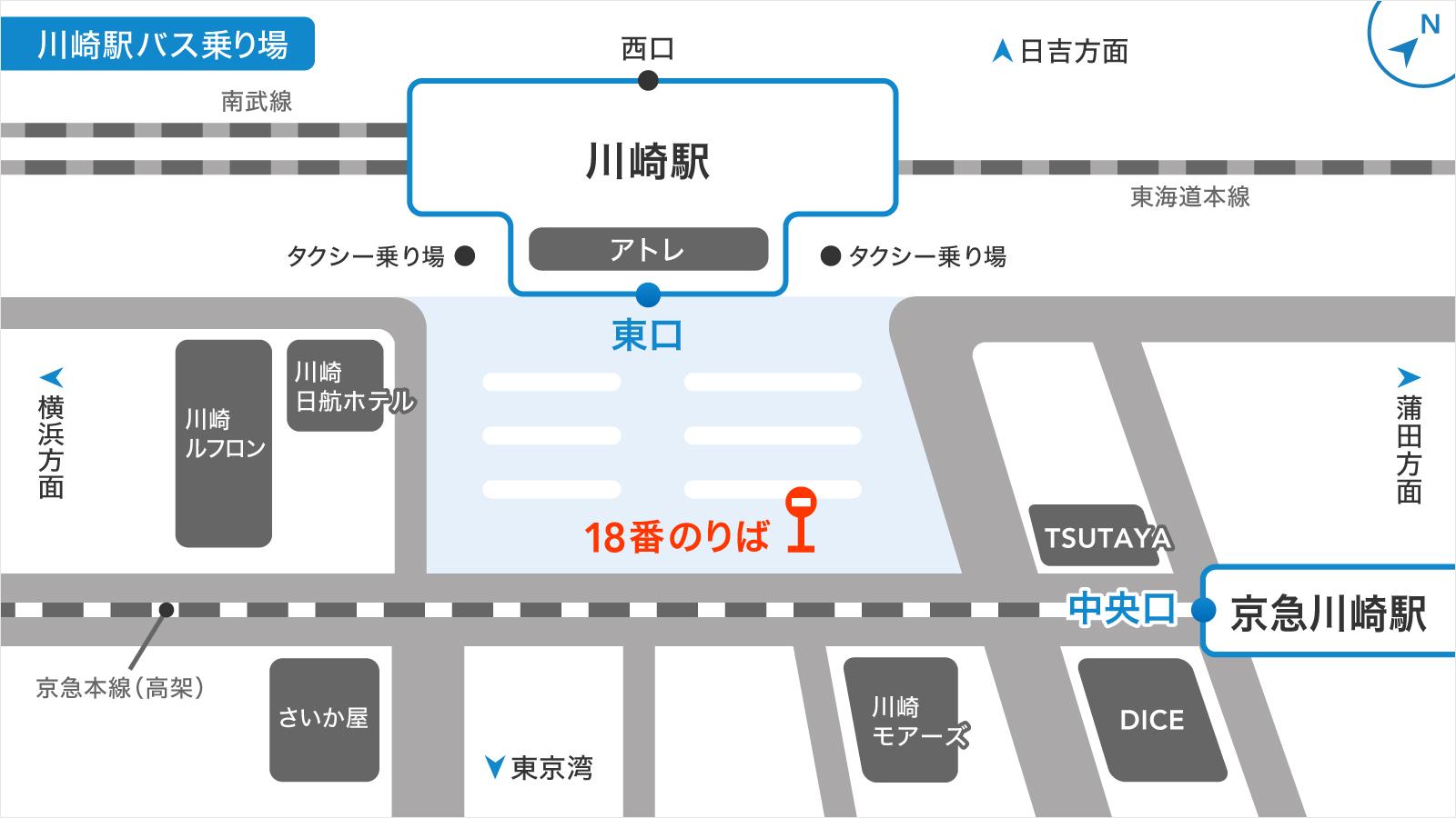 川崎駅バス乗り場の画像