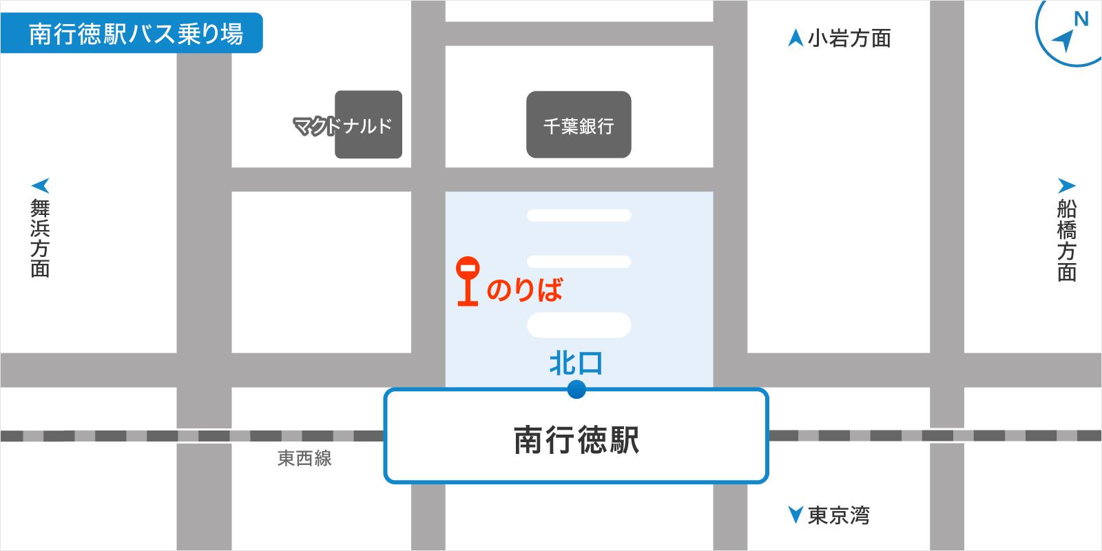 南行徳駅バスのりばの地図