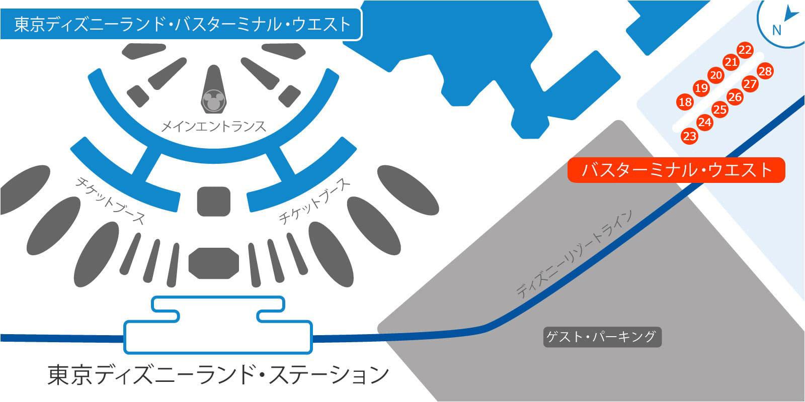東京ディズニーランド・バス・ターミナルの地図2