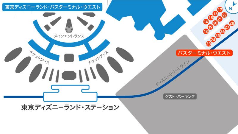 東京ディズニーランド・バス・ターミナルの地図