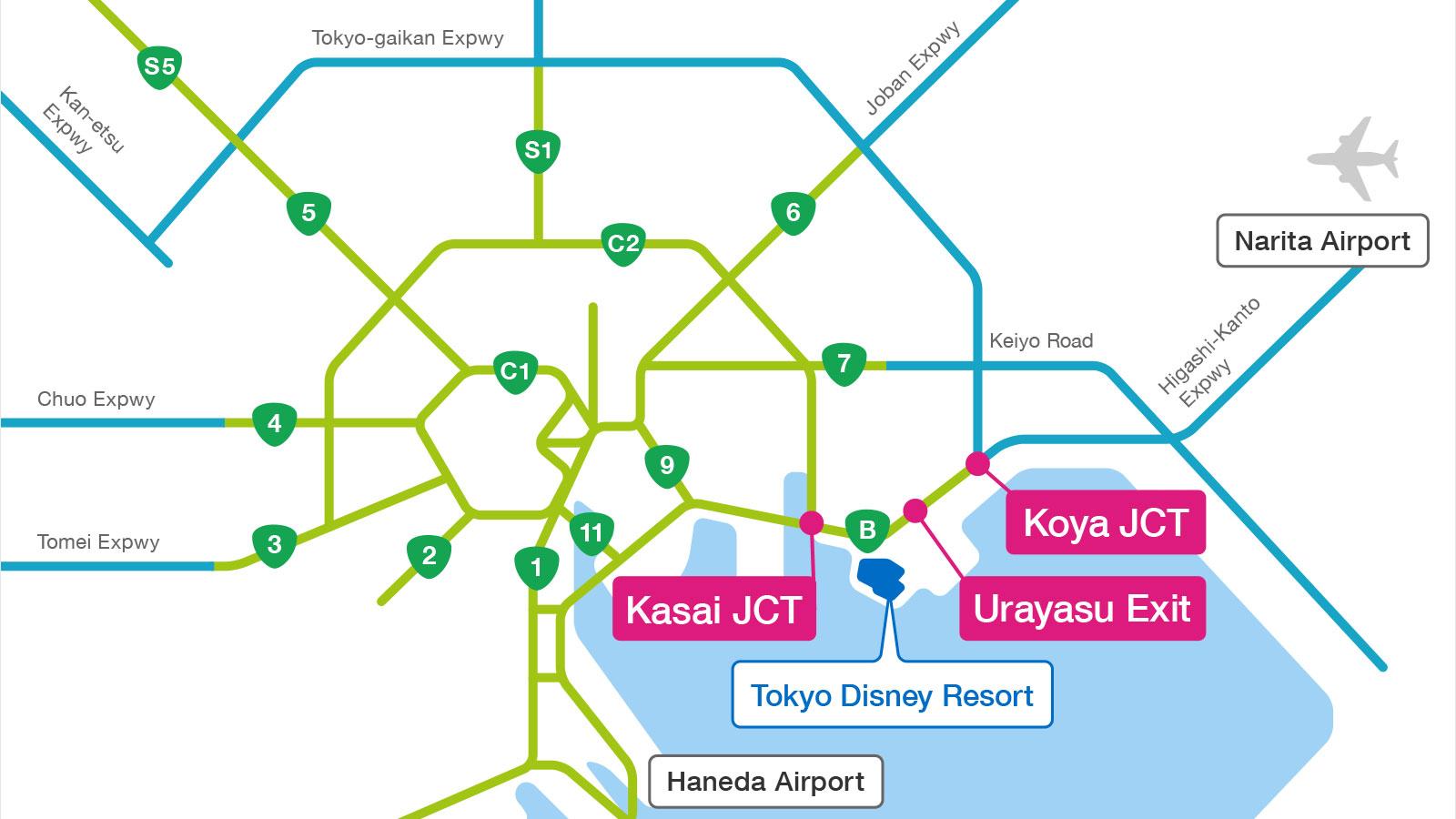 広域道路マップのイメージ