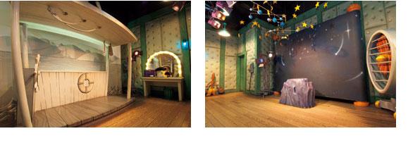 ミッキーの家とミート・ミッキーのボートのイメージ