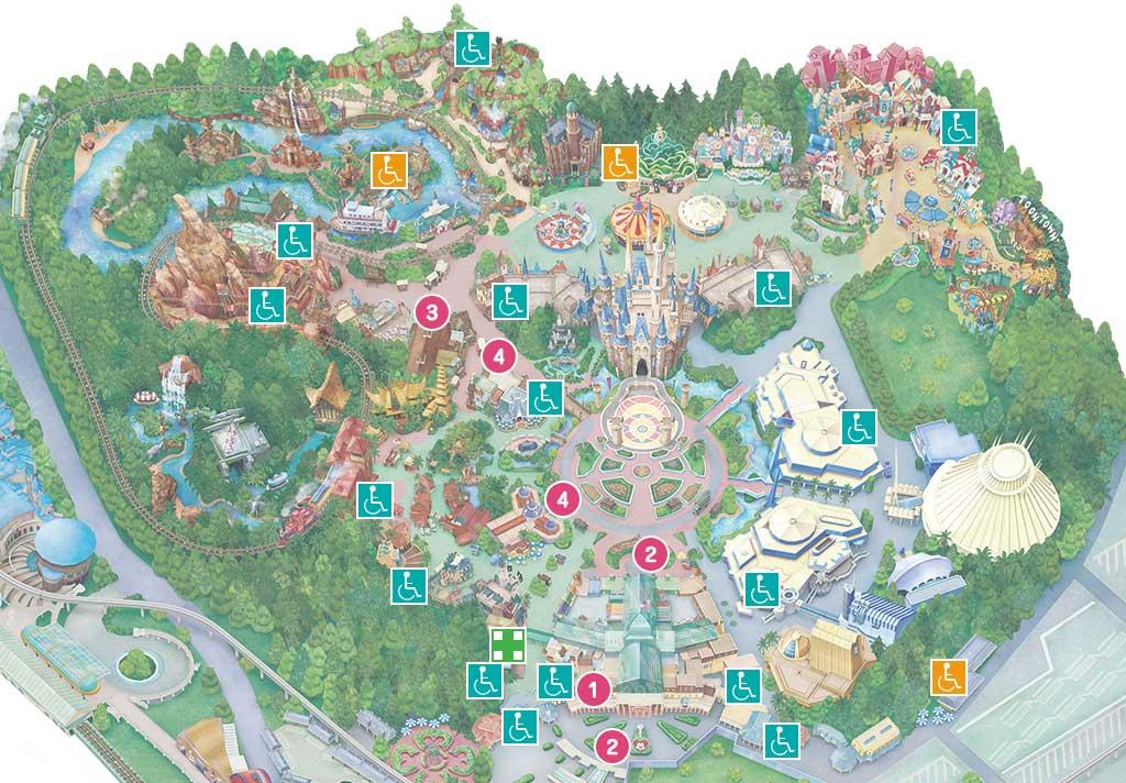 バリアフリー施設設置場所の地図
