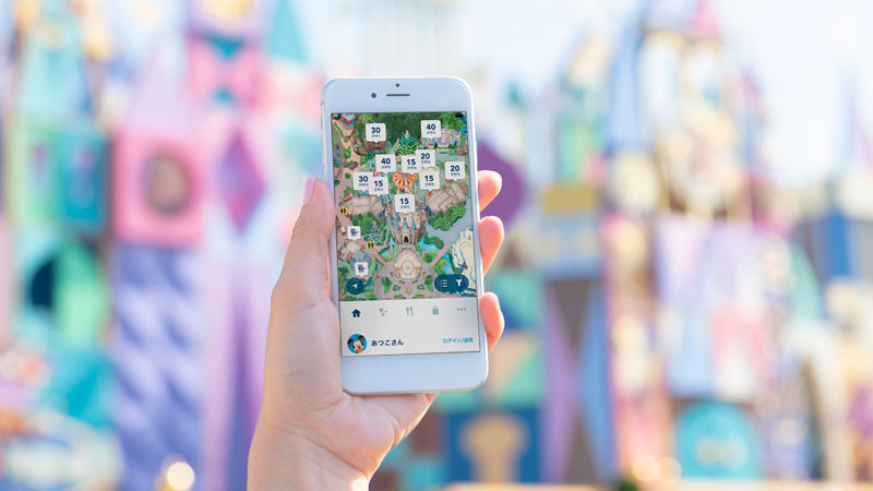 Check wait times by using the Tokyo Disney Resort App.