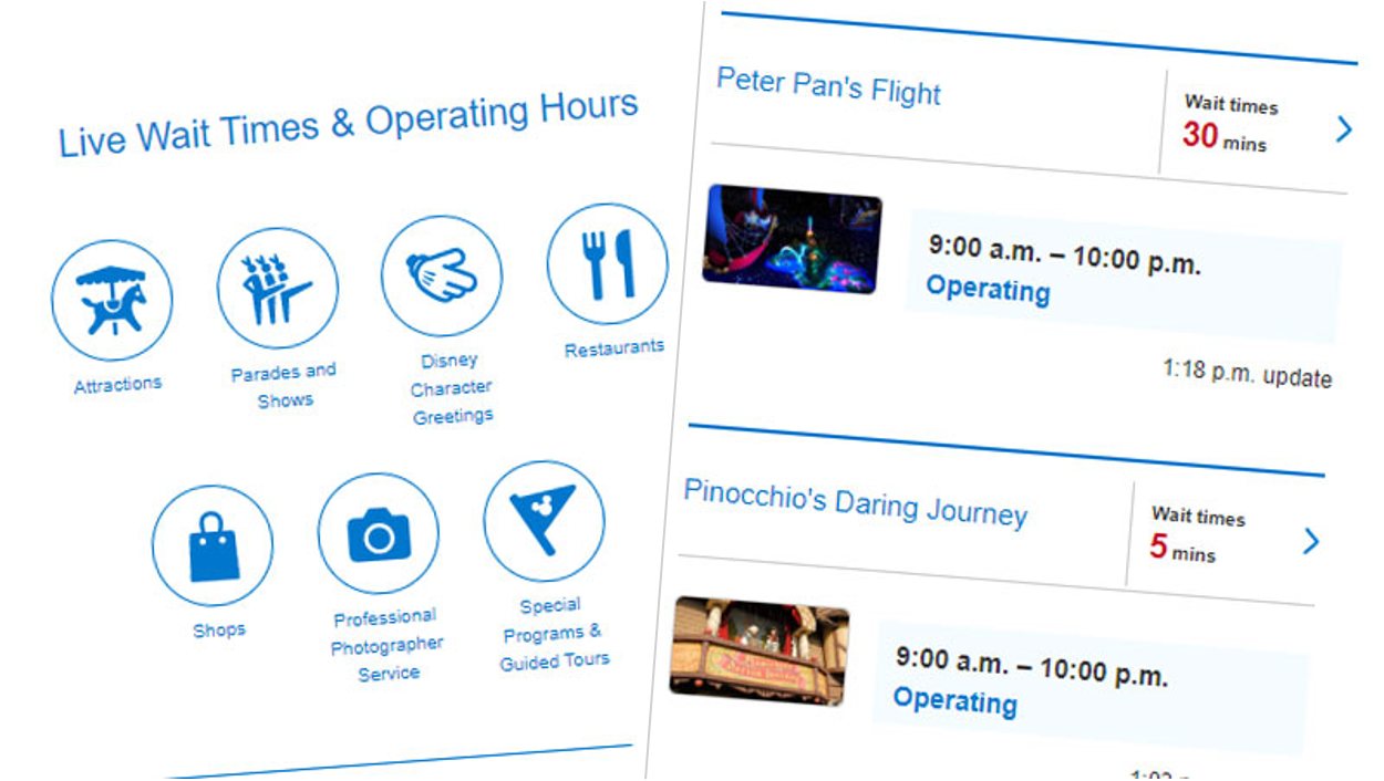 Get up-to-date attraction wait times and more on the official website.