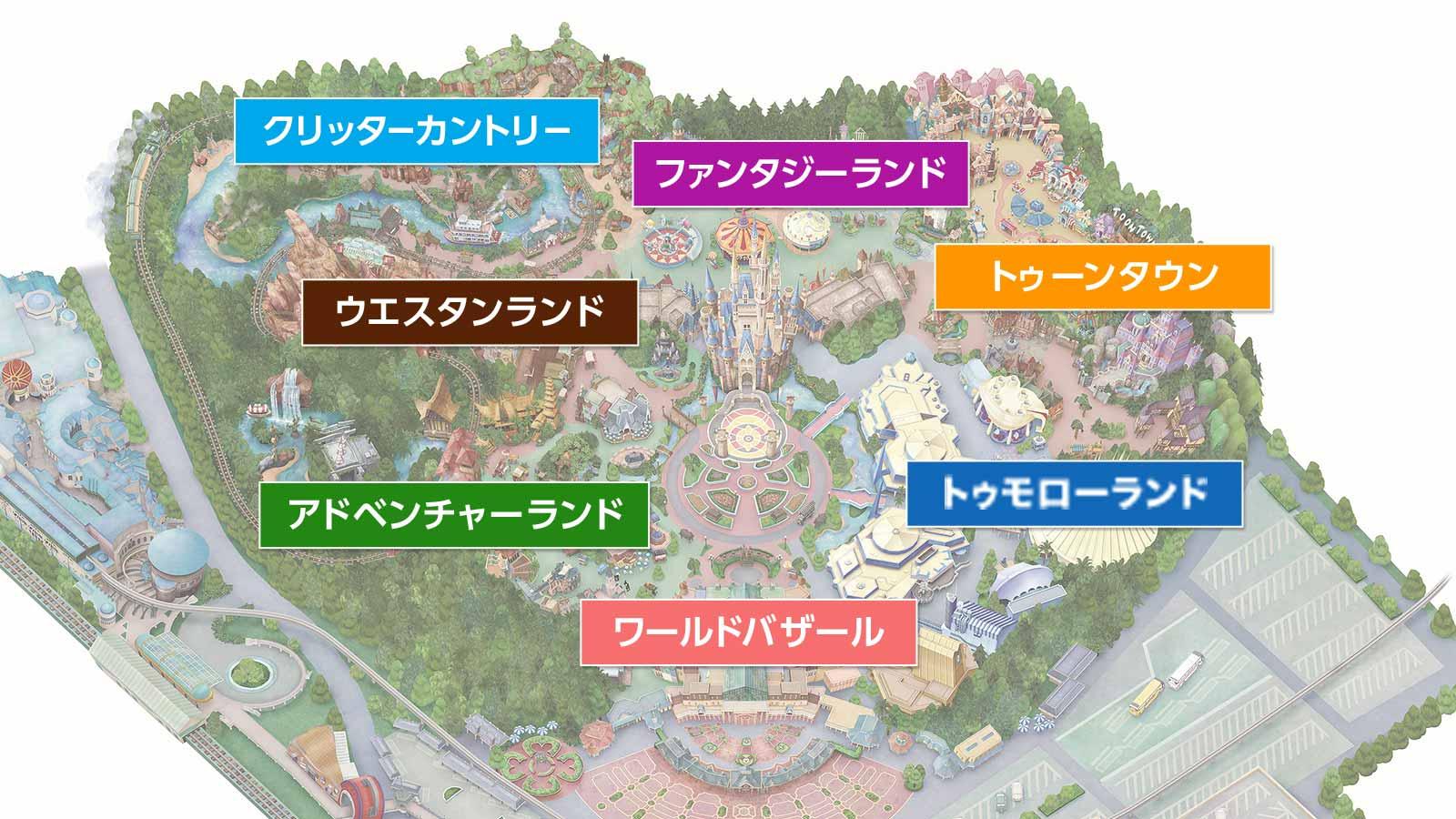 東京ディズニーランド地図画像