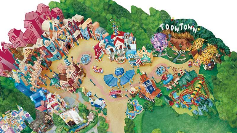 トゥーンタウンの地図