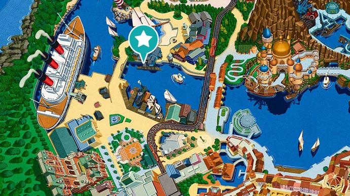 6.ディズニーシー・トランジットスチーマーラインの場所のイメージ