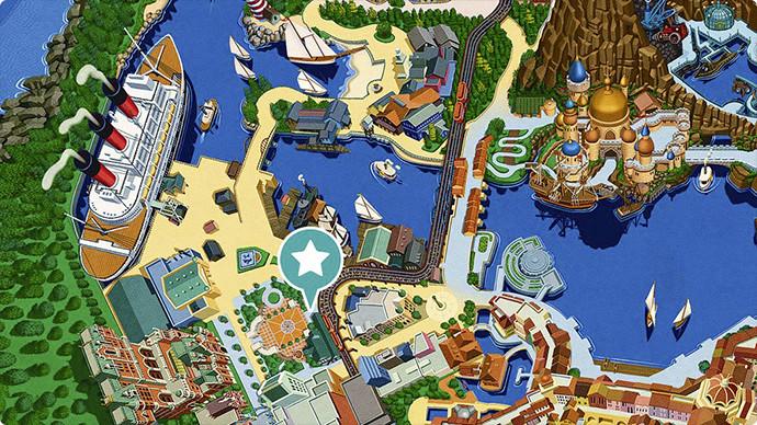 7. ディズニーシー・エレクトリックレールウェイの場所のイメージ