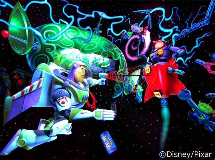 Shooting-game attraction  Buzz Lightyear's Astro Blasters in Tomorrowland