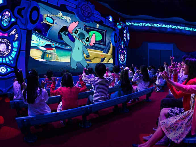 Chat with that mischievous Stitch Stitch Encounter in Tomorrowland