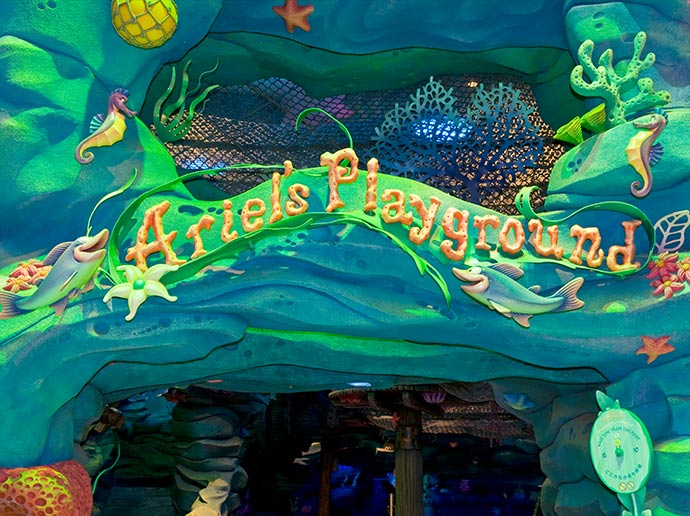 Great for families with small children! Ariel's Playground at Tokyo DisneySea