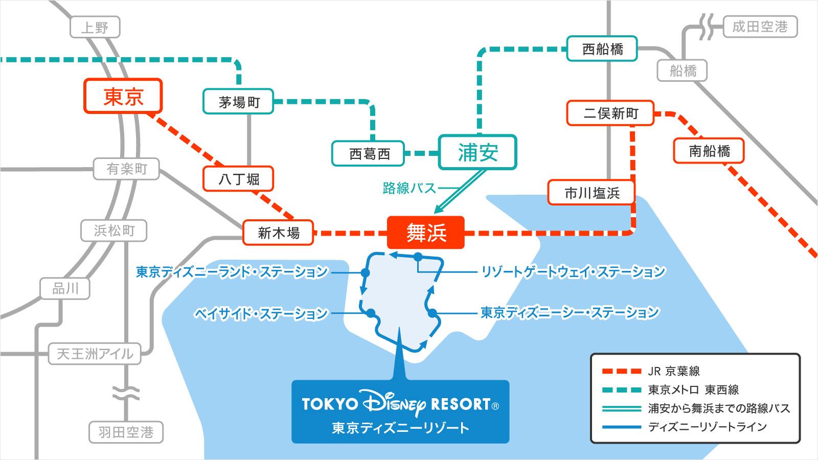 東京ディズニーリゾートの場所のイメージ
