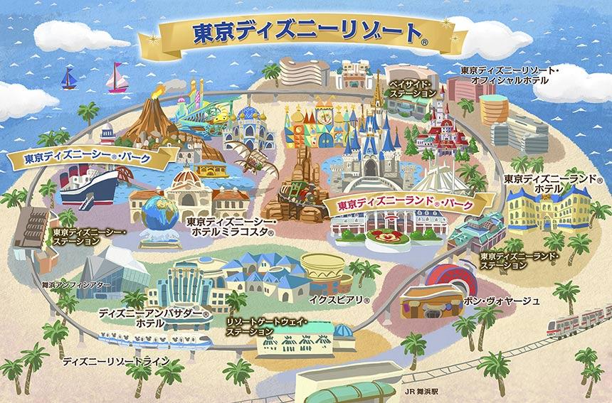 東京ディズニーリゾートの全体像イメージ