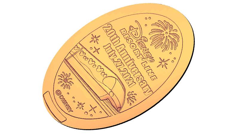 リゾートラインスーベニアメダルの画像