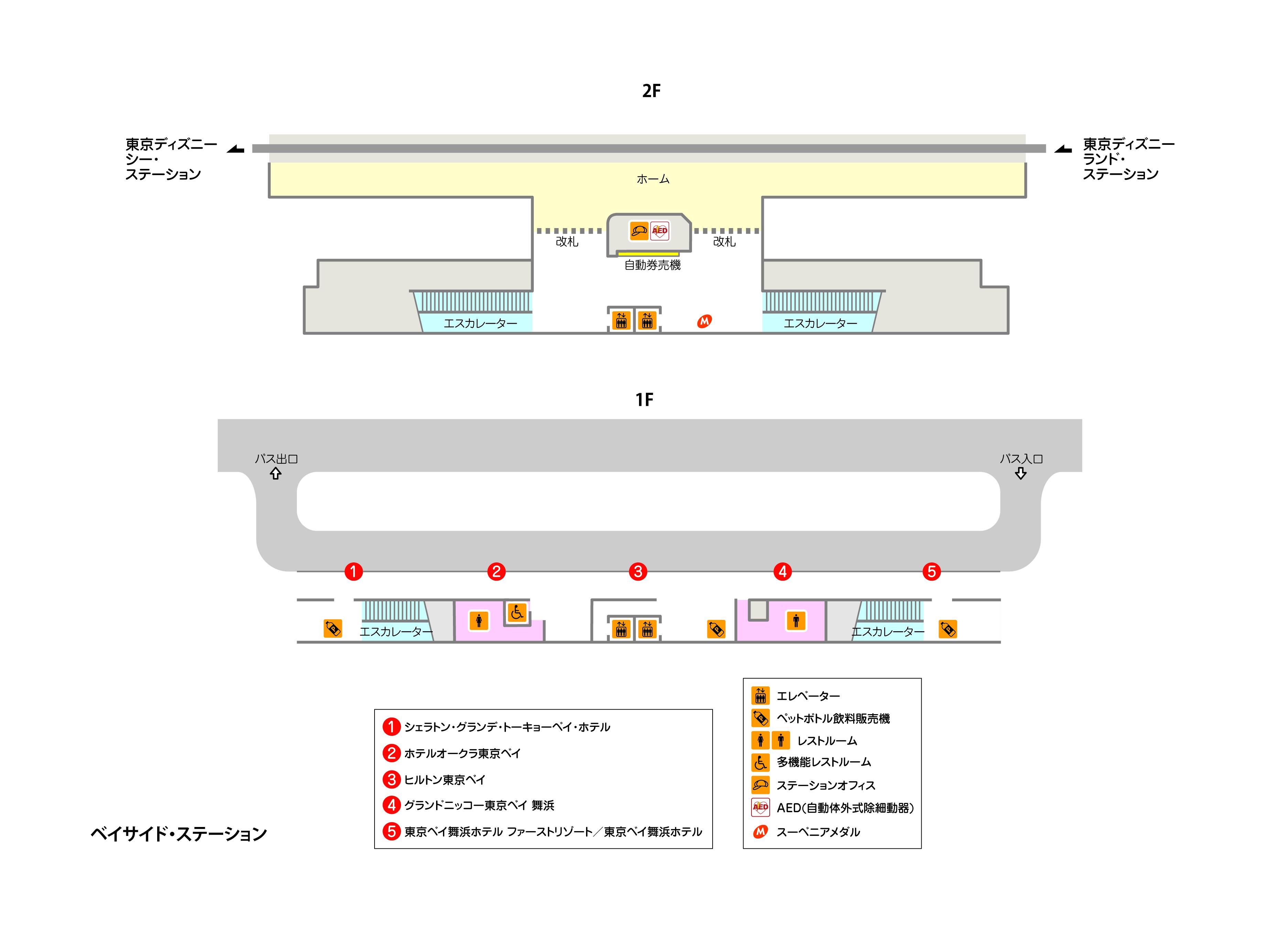 駅構内の図
