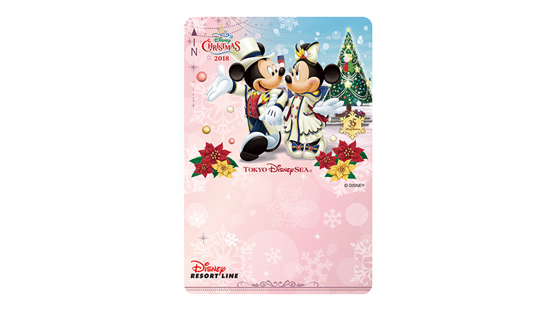 「ディズニー・クリスマス」デザインのフリーきっぷのイメージ
