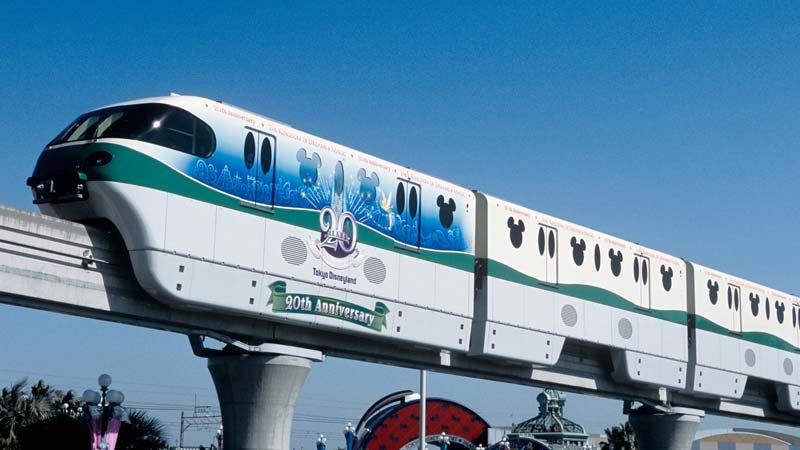 รถไฟโมโนเรลที่ระลึกครบรอบ 20 ปี โตเกียวดิสนีย์รีสอร์ท1
