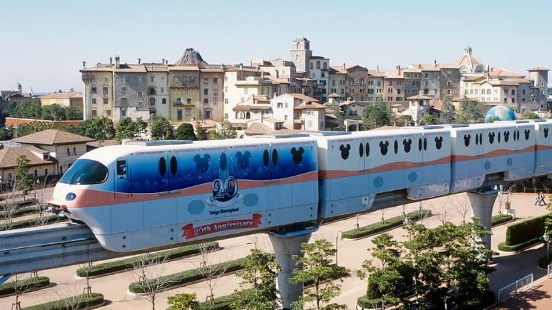 รถไฟโมโนเรลที่ระลึกครบรอบ 20 ปี โตเกียวดิสนีย์รีสอร์ท2